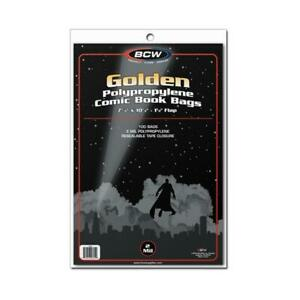 100 BCW GOLDEN GOLD AGE COMIC BAGS AND BOARDS