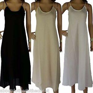 e5a9c9771f0a0 Size 14 Full Slip 100% COTTON Womens M Long Petticoat Dress Quality ...