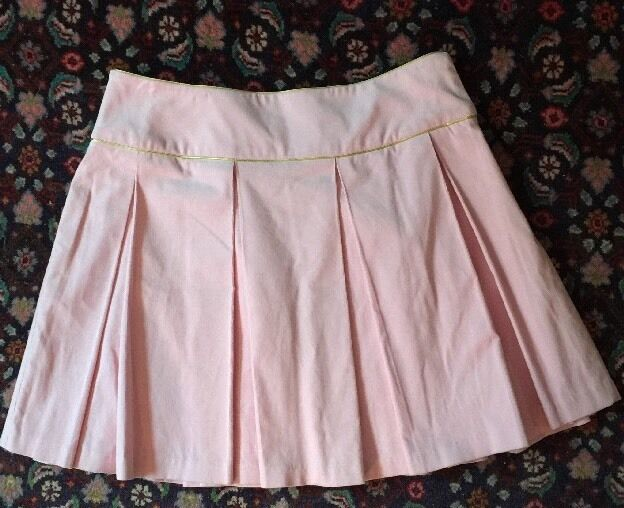 TAILOR NEW YORK Skirt Sz 8 Pink Pleated 97% Cotton Fully Lined NWT  130.00
