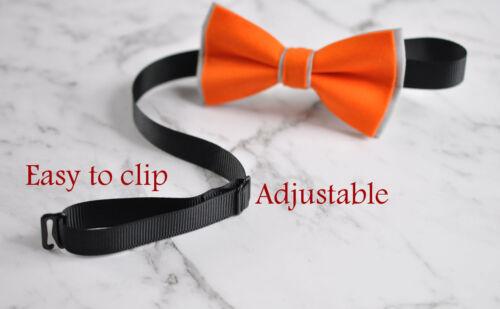 Men 100/% Cotton 2 Layers Bow Tie Bowtie Wedding Pink NAVY BLUE Yellow Grey