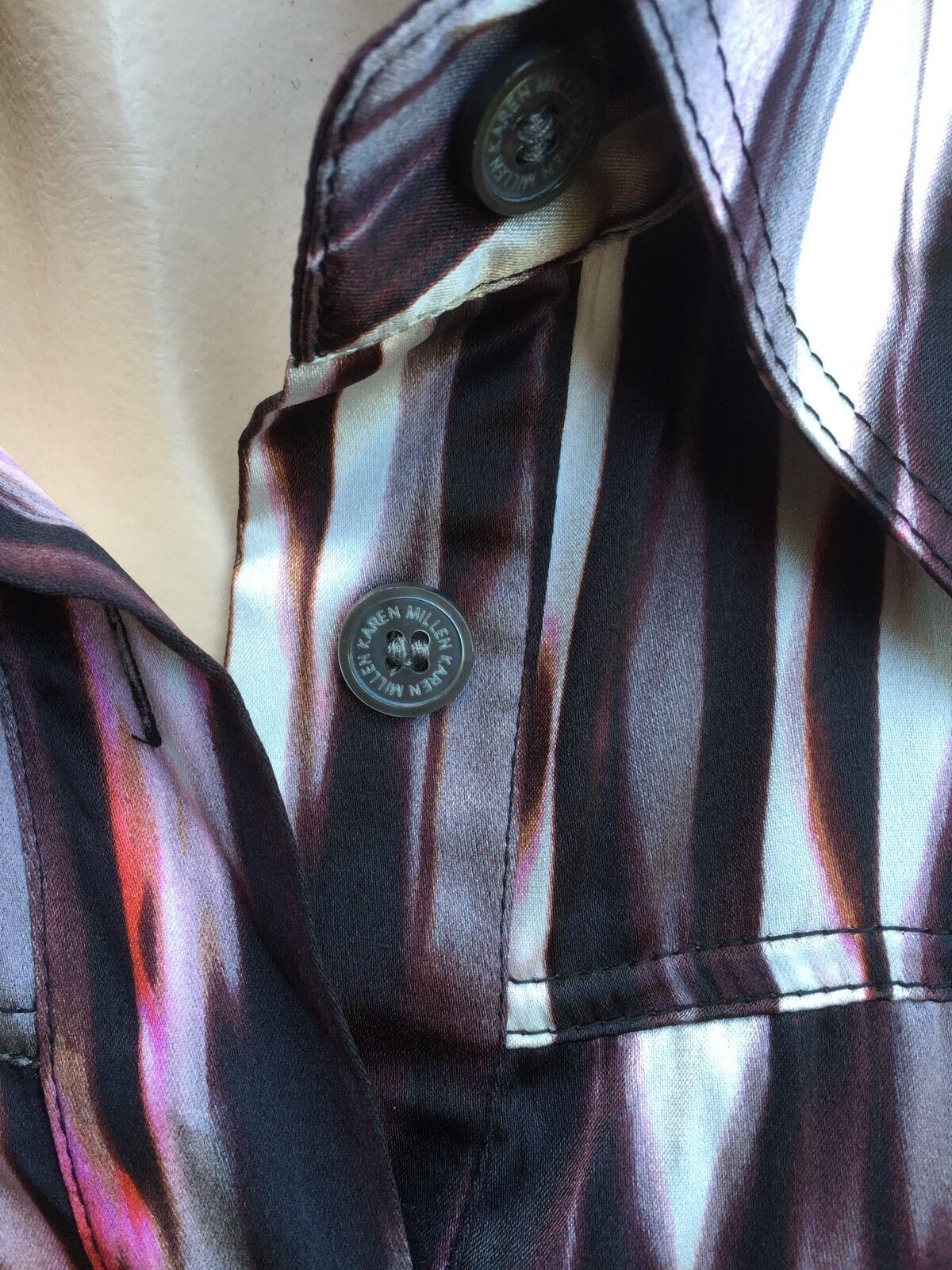 NWT  380 Karen Millen Multi color color color Silk Dress sz.6 Dress,button down ff6d09
