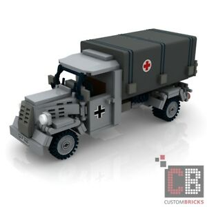 Details about CUSTOM PDF Instructions WW2 WWII OPEL BLITZ RED CROSS for  LEGO® Bricks