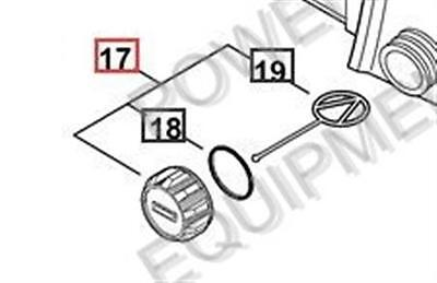CHAIN SAW CP03 Part# P021036960 Shindaiwa FUEL CAP ASSY Genuine Echo
