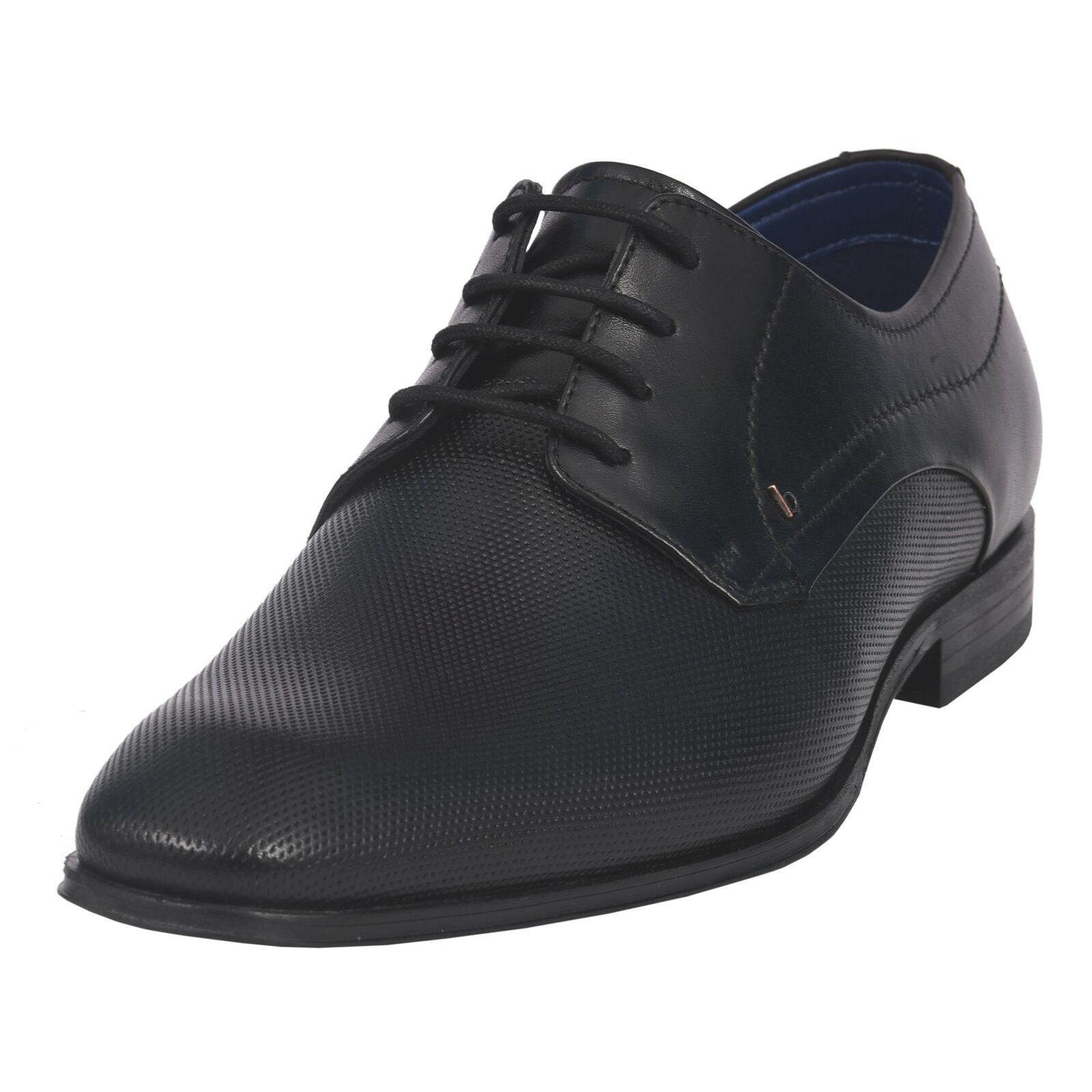 Bugatti Men 311-66606-1000 negro con cordones Business boda Zapatos Cuero
