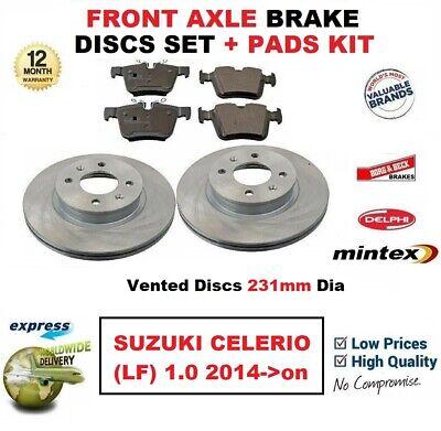Citroen C4 C 4 2004-2010 Frontal 2 Discos De Freno Y Almohadillas Set Nuevo Kit