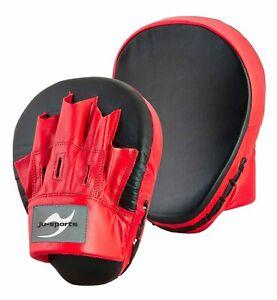Ju-Sports Handpratzen vorgebogen echt Leder - Hand Mitts - 1 Paar - Schlagpratze