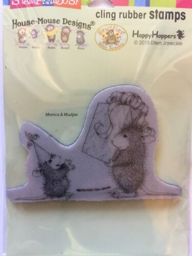 HOUSE MOUSE RUBBER STAMPS CLING BIRTHDAY GIFT HMCP94 NEW