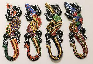 Afrika deko holz gecko salamander 30 cm eidechse figur - Wanddeko eidechse ...
