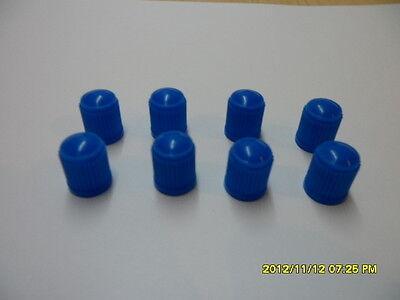 Tube /& Cycles Valve Dust Cap Brand New 12 x Nitrous Light Blue Plastic Car