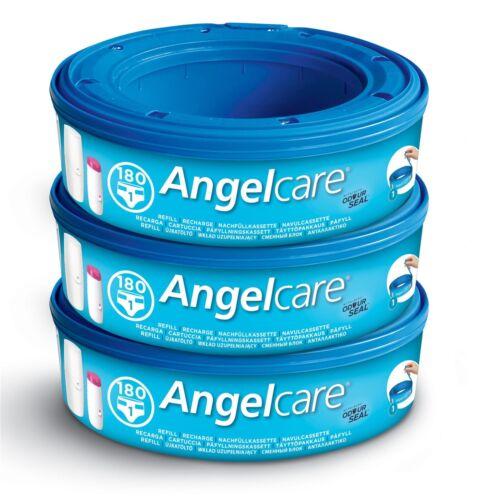 3 X Angelcare Windel Entsorgung System Nachfüllung Kassetten Hüllen Tasche Säcke