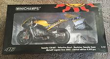 MINICHAMPS 2005 Yamaha YZR-M1 Valentino Rossi Laguna Seca MotoGP 1:12 VERY RARE