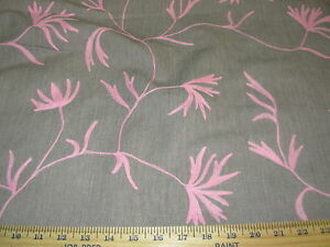 Image Is Loading 5 8 Yds Leaves Branches Crewel Embroidered