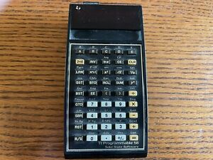 TEXAS INSTRUMENTS Ti-58 Programmable Cal w/Math Module, Case, Charger-as is