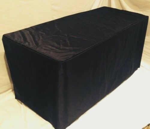 6/' ft Fitted WATERPROOF Table Cover Patio Outdoor Indoor wet bar black