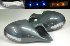 VW Golf MK3 93-98 M3 Carbon Fiber Front LED Power Door Side Mirrors Pair RH LH