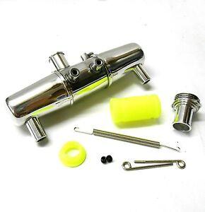 AP805-1-8-Scale-Aluminium-Arriere-echappement-Silencieux-Tuyau-Avec-Collecteur