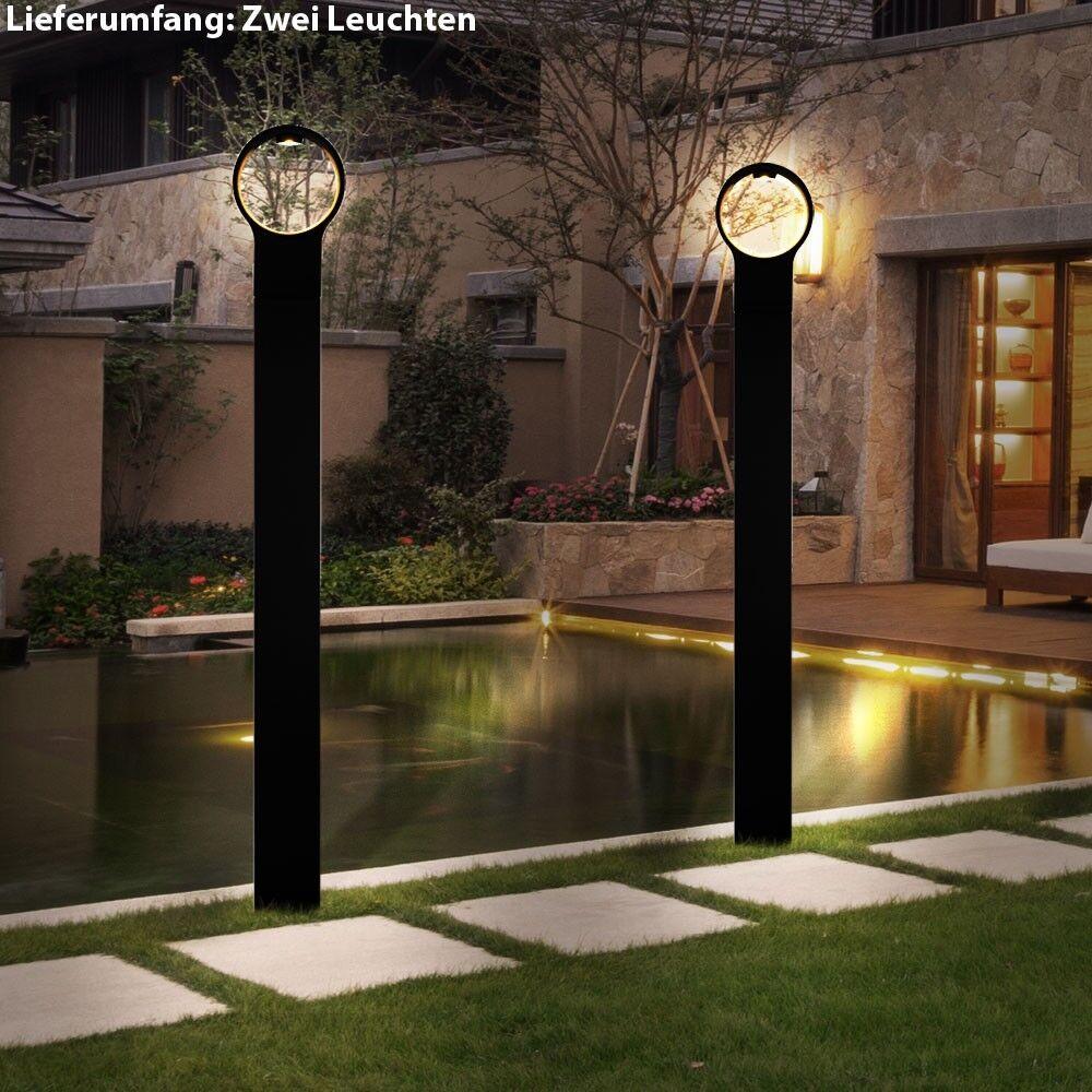 2 x lampadaire LED 4 W luminaire sur pied éclairage espace extérieur jardin IP44