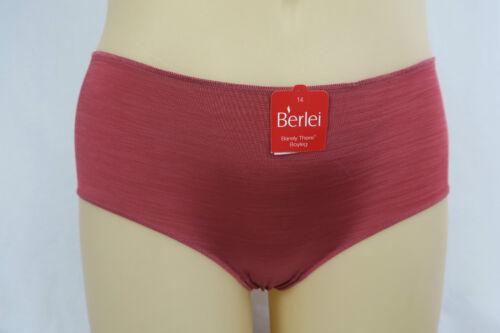 Berlei Barely There Ladies Boyleg Briefs Underwear size 14 Colour Salmon