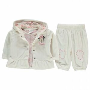 271a5918a271 girls joggers jacket and top Disney Minnie Mouse velour hooded set 9 ...