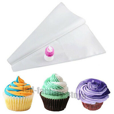 NEW DOUBLE 2 COLOUR CAKE COOKIES CUPCAKE DECORATING TOOLS MODELLING ICING BAG #T