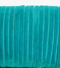 10m x Turquoise Cyan blue/green velvet ribbon 7mm wide