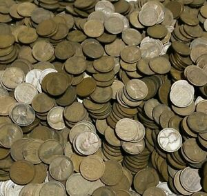 100 Assorted Estate Hoard  LINCOLN WHEAT PENNIES P D S Mints FREE Shipping