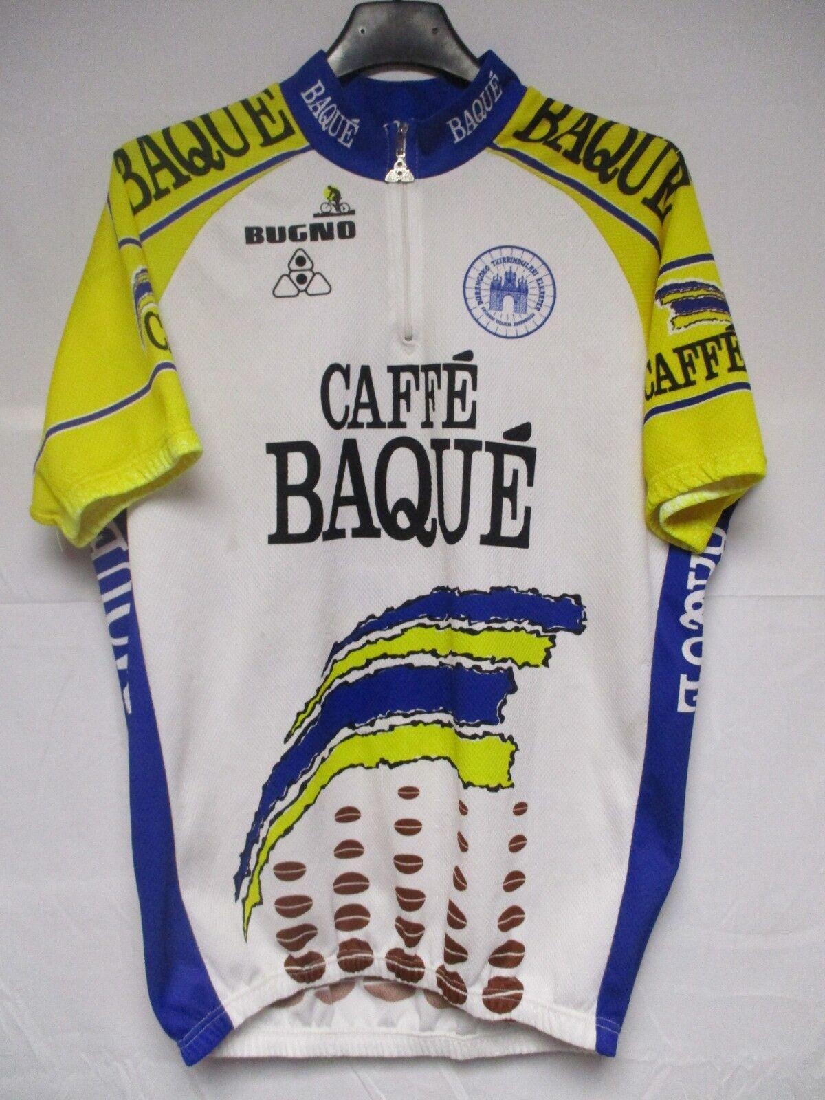 Maillot cycliste Caffé Baqué Bugno shirt camiseta DURANGUESA Pays Basque 8 XXL