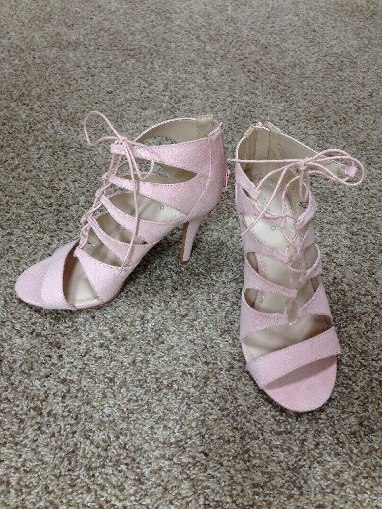 Torrid Pink Womens Shoes Size 10W Pink Torrid Heels Open-toe 1f5507