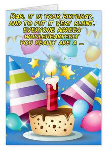 Dad birthday card birthday greeting card for dad funny dad card image is loading dad birthday card birthday greeting card for dad m4hsunfo