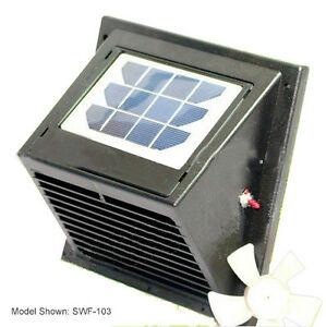 New Wall Solar Vent Fan With Battery For Bathroom Greenhouse Shed Etc Ebay