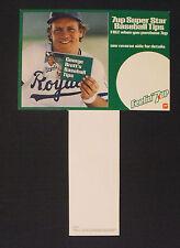 1981 George Brett Royals Baseball Memorabilia Tips Photo Card 7-UP Carton Insert