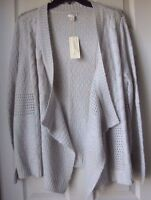 Brand Sonoma Life+style Women's Open Front Flyaway Knit Cardigan Gray Sz