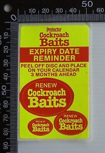 VINTAGE-PROTECTOR-COCKROACH-BAIT-EXPIRY-DATE-REMINDER-ADVERTISING-PROMO-STICKERS