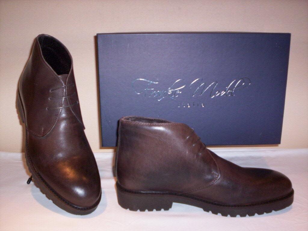 Frankie Model casual scarpe alte polacchini scarponcini casual Model uomo pelle marroni shoes 0ebd6e