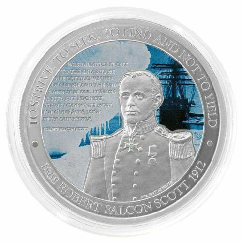 Niue 2012 $2 Robert Falcon Scott Royal Navy Antarctica 1 Oz Silver Proof Coin