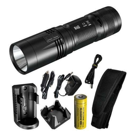 Nitecore R40 1000 lm inductive charging lampe de poche avec bureau et Mur Berceaux