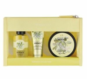The-Body-Shop-MORINGA-Collection-3-Pc-Set-Hand-Cream-Shower-Cream-Body-Butter