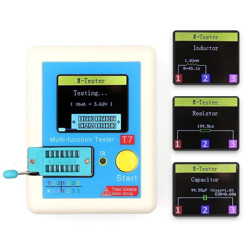 LCR-T7 Transistor Tester TFT Diode Triode Capacitance Meter LCR ESR meter NPN