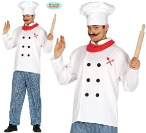 Adult Chef Fancy Dress Costume Mens Cook Outfit fg