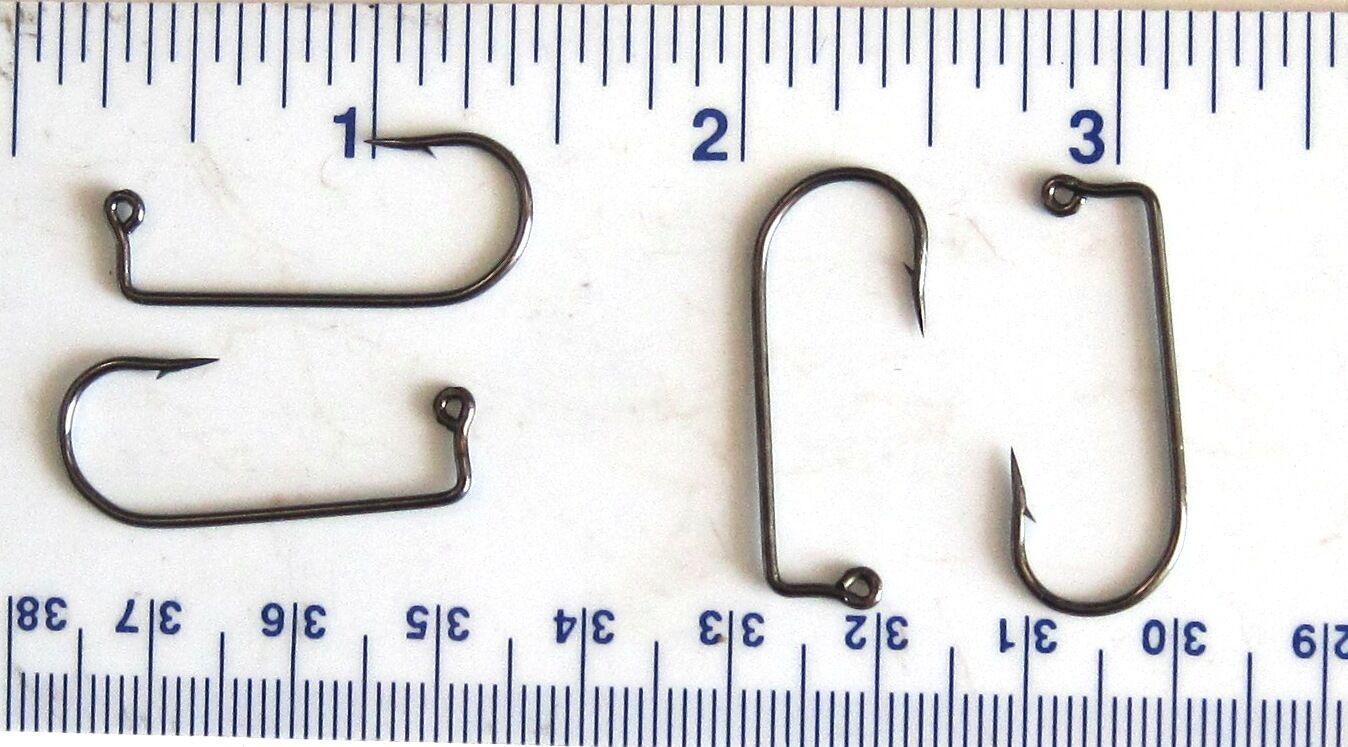 1000 Matzuo 775010 Schwarz Aberdeen Jig Fisch Angelhaken Größe 1 (117010 3 X