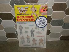 Vintage WWF World Wresting Federation Rub Down Transfers Art Stickers Hulk Hogan