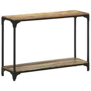 vidaXL Table Console 110x30x75 cm Bois Solide de Récupération Couloir Entrée