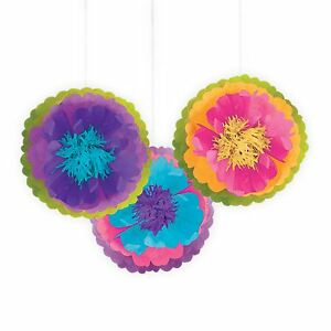 Details About Multi Colour Birthday Party Hanging Fluffy Tissue Paper Ball Decoration Hatter