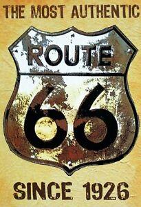 Itineraire-66-Since-1926-Pancarte-en-Tole-Signe-Metal-Voute-Etain-20-X-30-cm