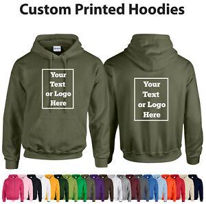PERSONALISED-HOODIE-CUSTOM-Unisex-Stag-Hen-Workwear-Event-Gildan-Hoody-Text-Logo