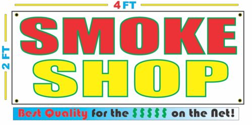 2x4 SMOKE SHOP Banner Sign NEW Discount Size Best Quality for The $$$
