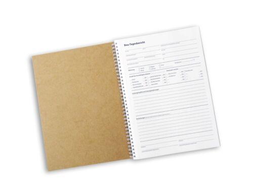 Bau-Tagesbericht A4, selbstdurchschreibend, 3x50 Blatt, in stabiler Ringbindung