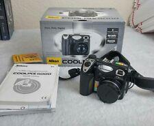 Nikon COOLPIX 5000 5.0MP Digital Camera - Black No battery charger (S3)