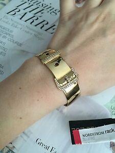 Image Is Loading Rachel Zoe Bracelet Cuff 14k Gold Plated Amp