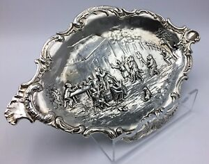 Superb-Silver-Chased-and-Repousee-Dish-or-Tray-London-1890-Pairpoint-Brothers